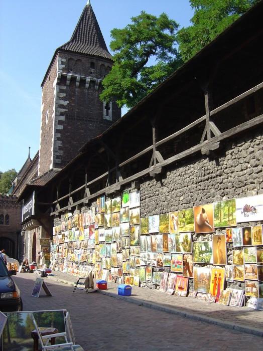 Brama Floriańska i mury obronne