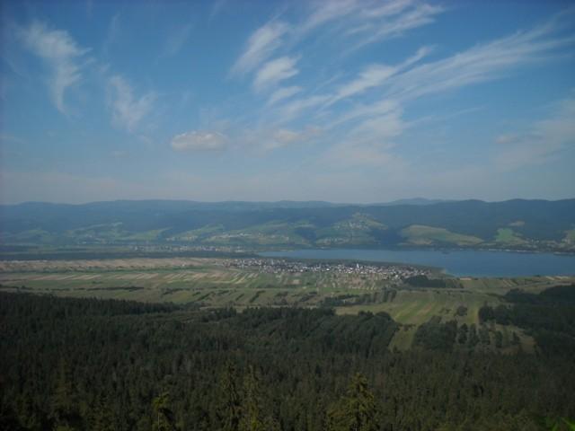 widok z góry Żar na jezioro czorsztyńskie