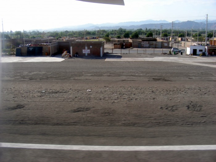 W samolocie nad lotniskiem