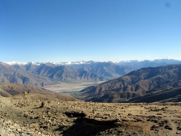 Na przełęczy Karo La - 5000m n.p.m.