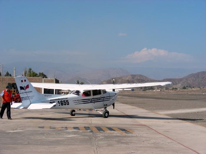 Lotnisko w Nazca - awionetki