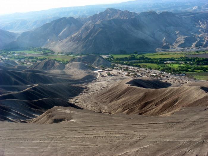Miejscowość Nazka - widok z samolotu