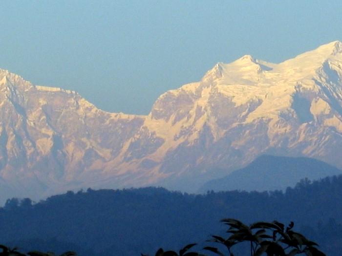 Widok na szczyty Himalai