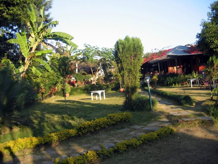 Restauracja w ogrodzie