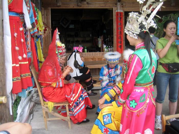 Widoczki z wioski Pingan