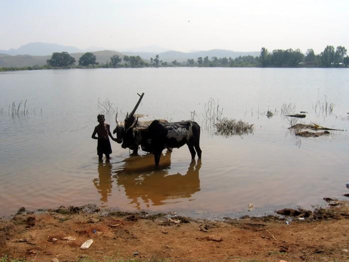 Zbiornik wodny sąsiedniej wiosce