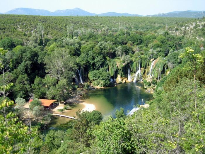 Wodospad Krawica na rzece Trebizat