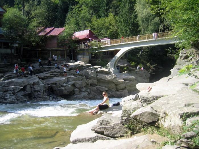 Rzeka Prut -mini  wodospad