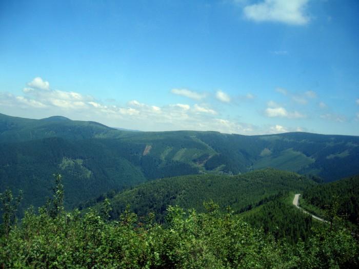 Widoki w drodze na górny zbiornik