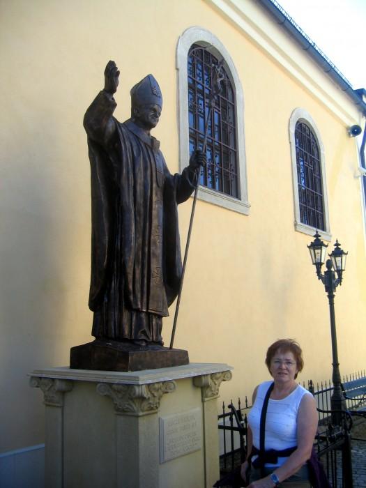 Czermna - Pomnik Jana Pawła II