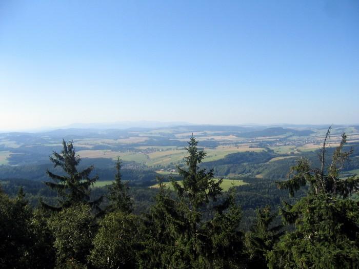 Błedne Skały - Widok na Czechy