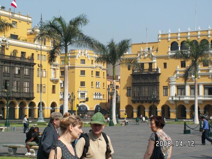 Plac De Armas w Limie